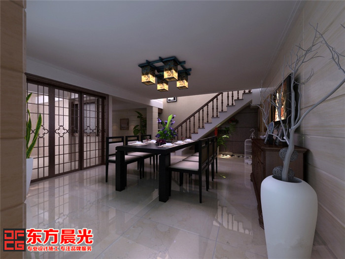 精致豪宅别墅中式装修设计简约设计空灵欢悦
