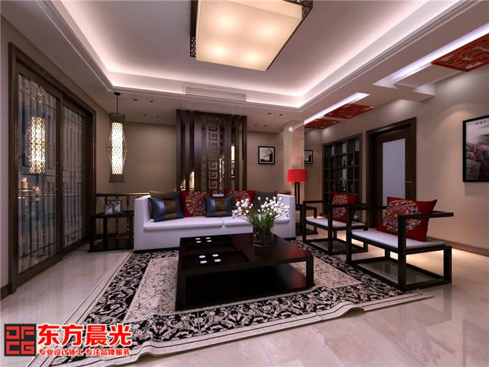 精致豪宅别墅中式装修设计客厅设计