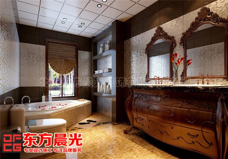 别墅中式装修设计显柔和古典美卫生间