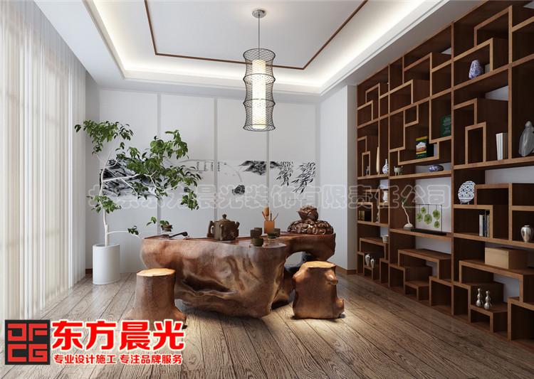 新中式风格联排别墅装修效果图品茗休憩