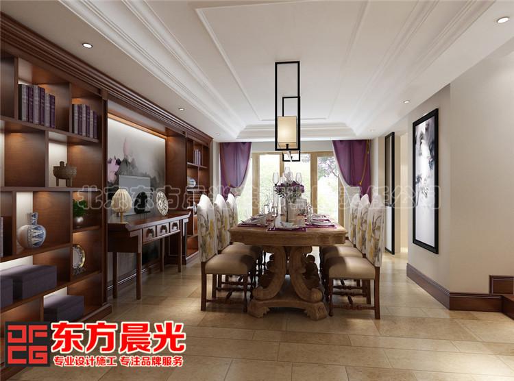 新中式风格联排别墅餐厅装修效果图