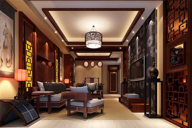 中式别墅简约风格客厅装修设计
