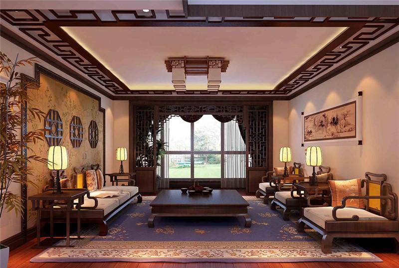 传统中式装修别墅设计效果图