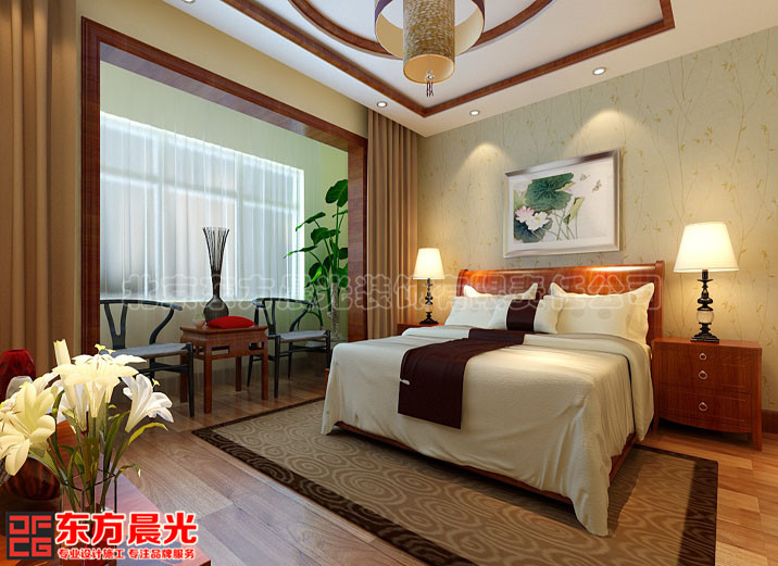 中式设计之别墅卧室