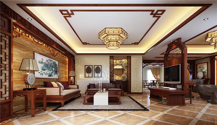 豪华大气中式别墅装修设计