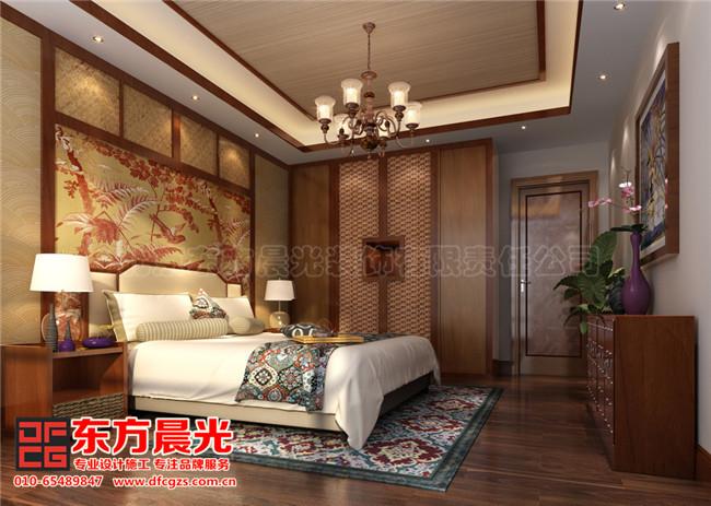 现代中式别墅装修设计-卧室