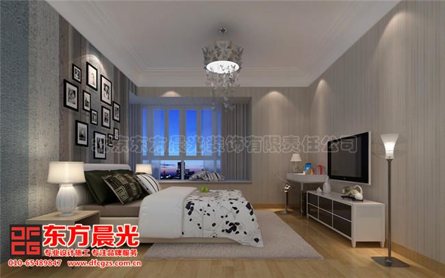整套别墅简约中式装修设计图-次卧