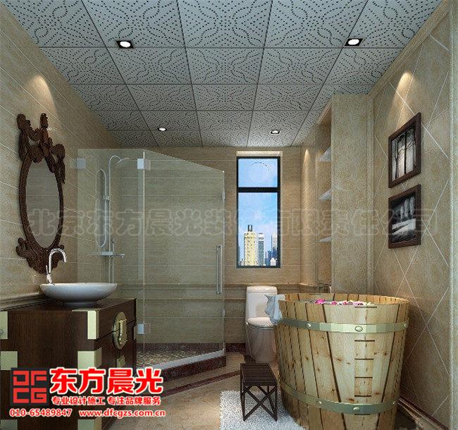 整套别墅简约中式装修设计图-卫生间