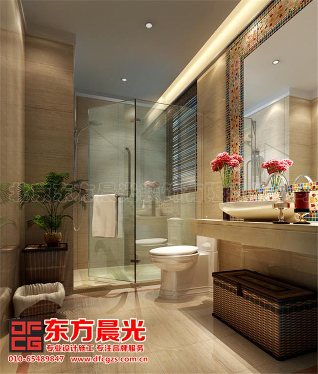 现代中式别墅装修设计-卫浴间