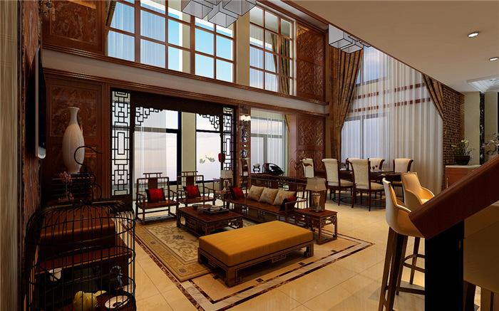 大户型中式风格别墅装修设计