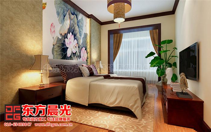 新中式别墅装修设计-卧室