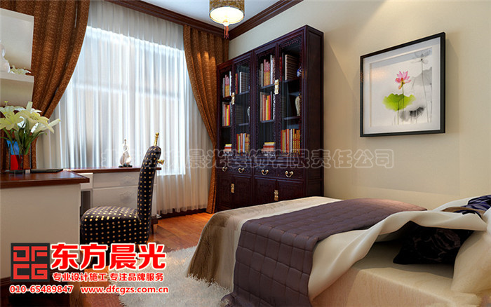 新中式别墅装修设计-书房