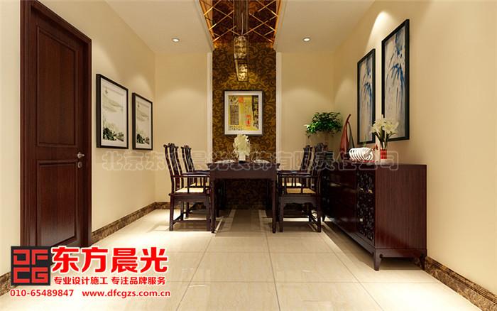新中式别墅装修设计-餐厅