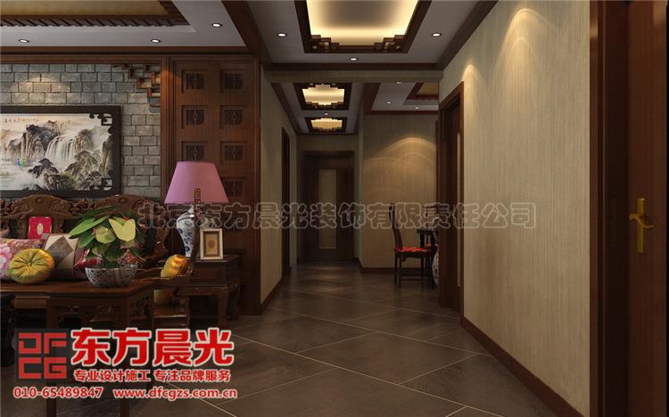中式别墅装修设计-过道
