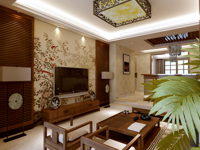 自然优雅中式别墅装修设计