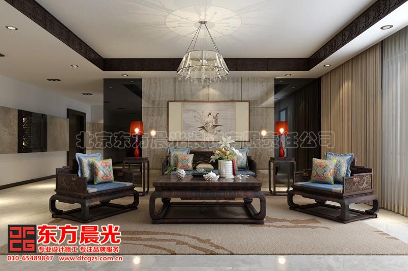 中式别墅装修设计之客厅