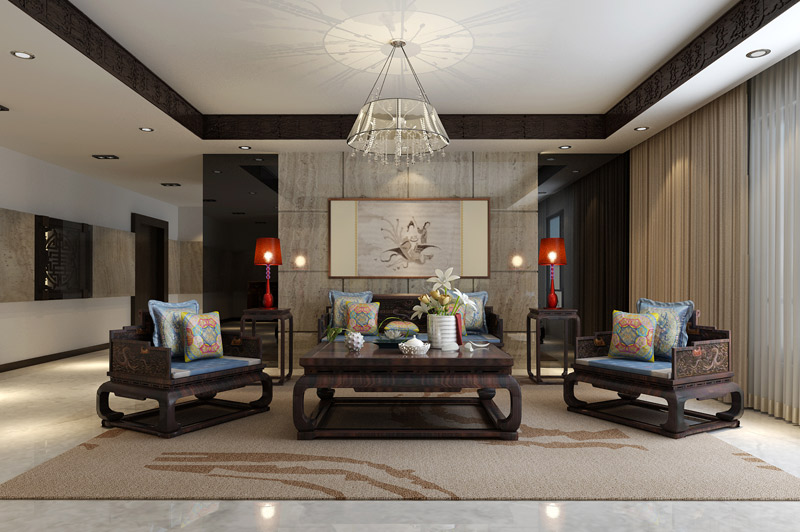 不同凡响的中式别墅装修设计