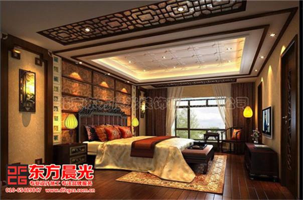 中式风格别墅装修设计与美同居-卧室