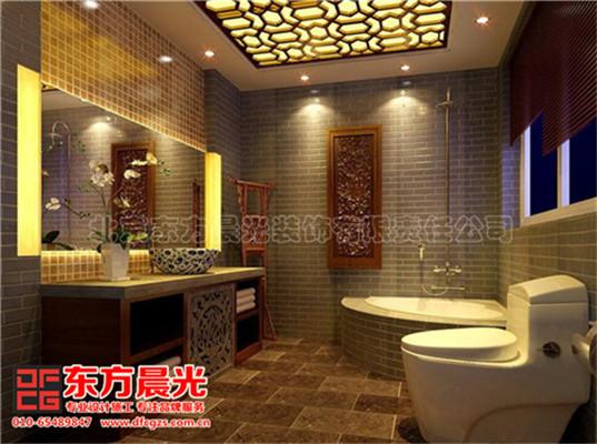 中式风格别墅装修设计与美同居-卫生间