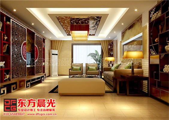 中式风格别墅装修设计与美同居-客厅