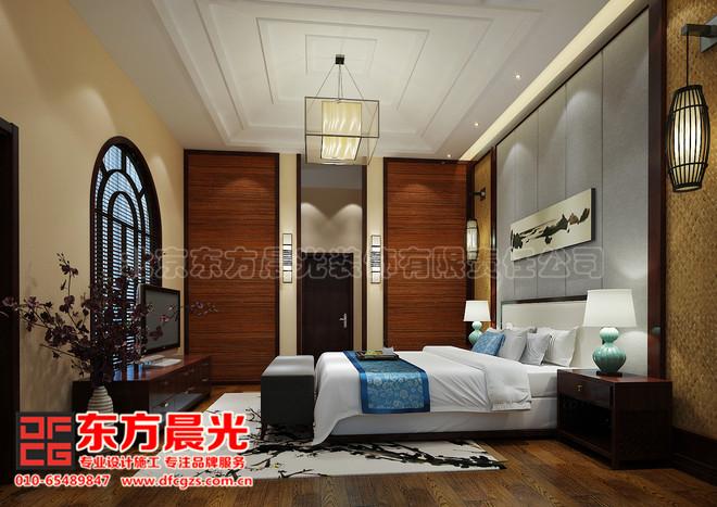中式别墅装修设计-卧室