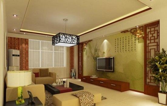 复古中式客厅装修效果图 致美空间的享受