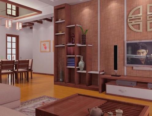 复古中式客厅装修效果图