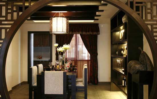 别墅新中式餐厅装修设计 氛围与空间装饰