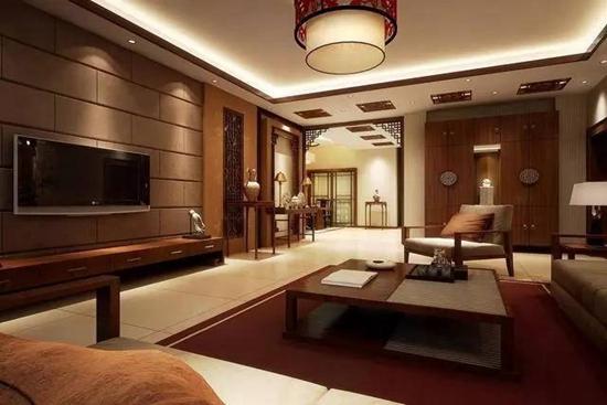 简中式客厅装修效果