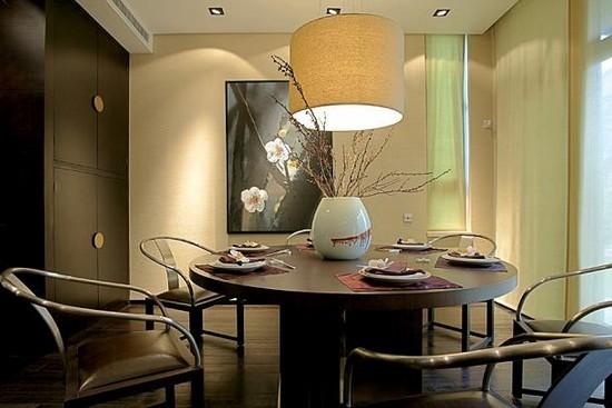 新中式风格别墅餐厅设计效果图