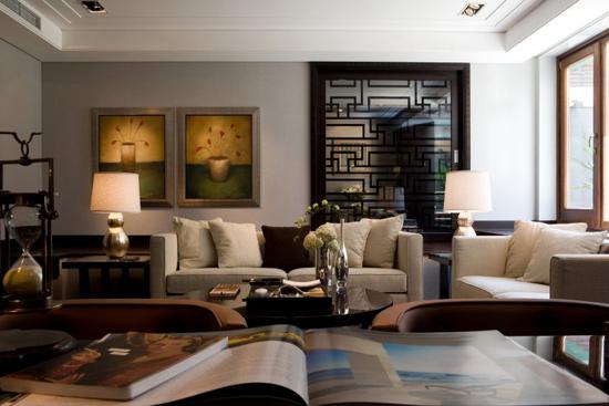 现代别墅新中式风格装修效果图