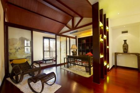 中式别墅书房装修效果图 专属舒适空间