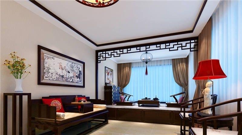 四合院别墅古典中式设计效果图