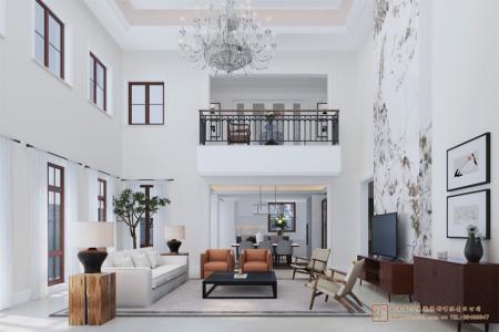 四合院别墅客厅设计效