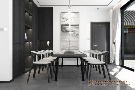 中式元素餐厅装修效果图