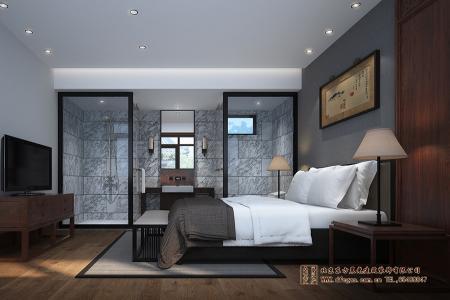 中式卧室带卫生间装修