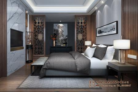 中式元素卧室装修效果