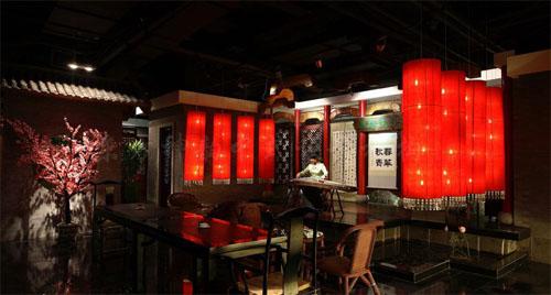 北京胡同里的中式茶楼装修