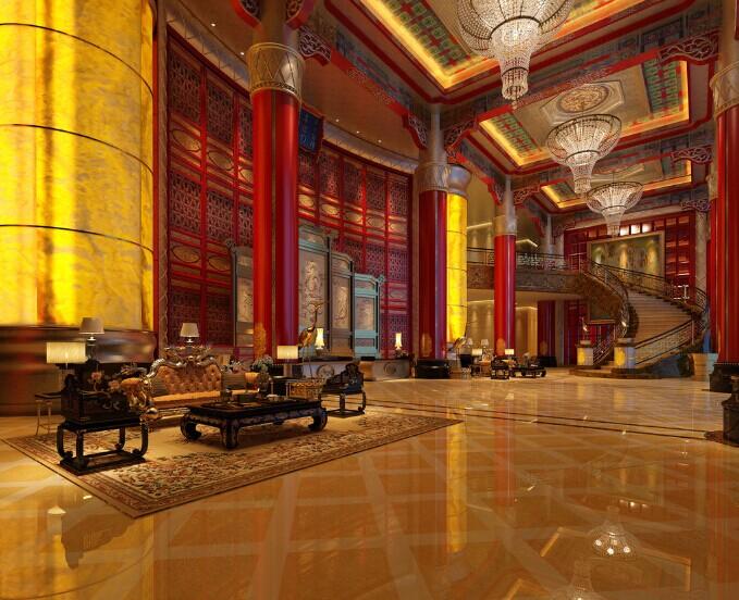 共享古香古色四合院中式餐厅装修