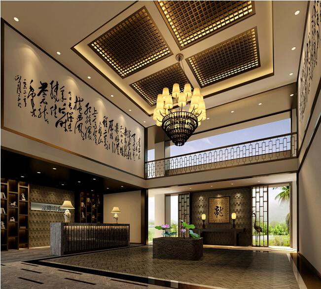 中式古朴风格饭店装修案例