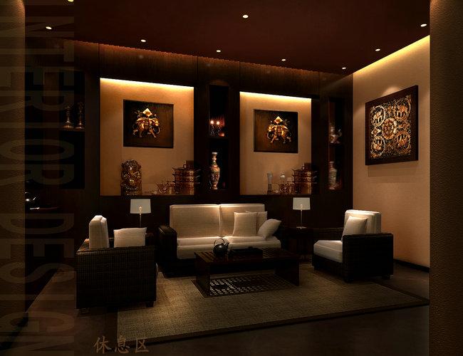 木结构中式餐厅设计效果图