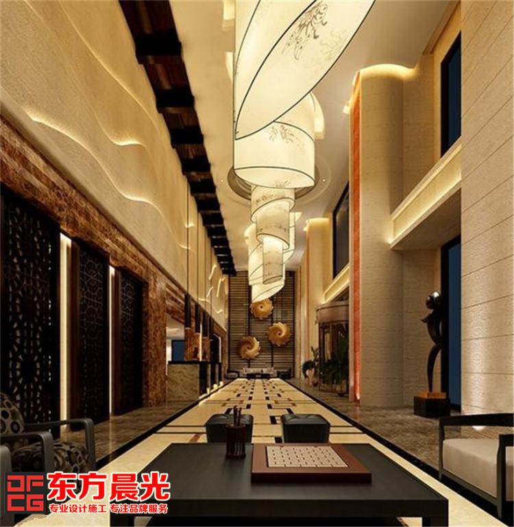 古典与时尚并存的现代酒店装修_大堂