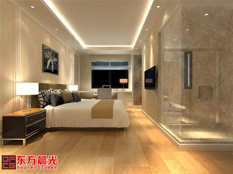 古典与时尚并存的现代酒店装修_客房