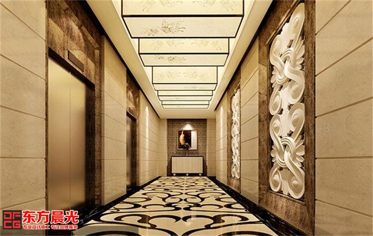 古典与时尚并存的现代酒店装修_过道