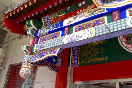 中式酒店装修仿古门头