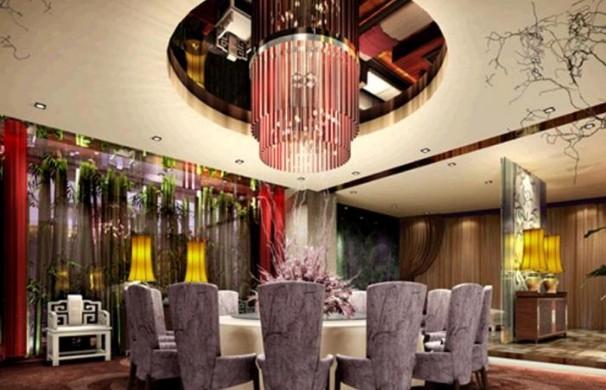 中式饭店装修设计效果