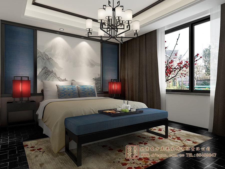 中式卧室房间设计效果图