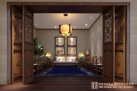 中式仿古室内设计效果图