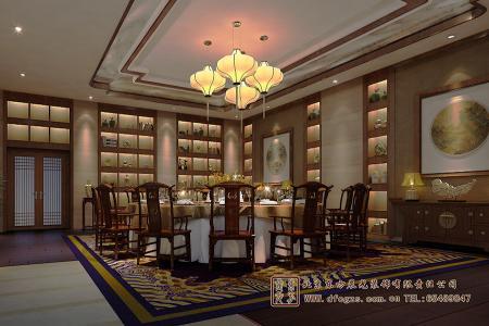 四合院酒店就餐房间设