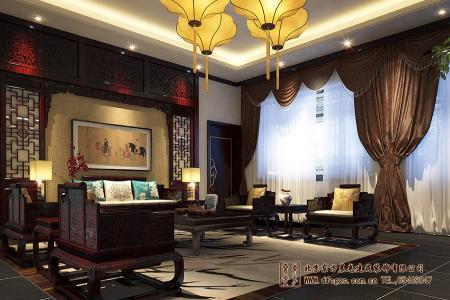 四合院酒店厅室设计效果图